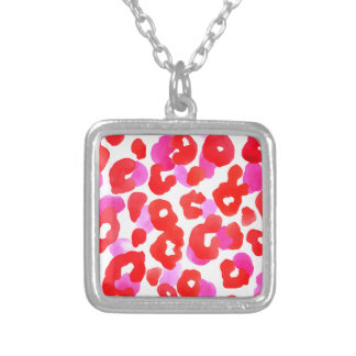 Wild jaguar ethno  Red love Silver Plated Necklace