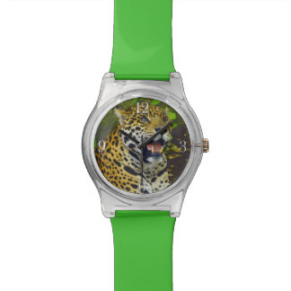 Wild Jaguar Spotted Panther Animal Lover Watches