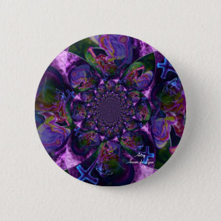 Wild Kaleidoscope Saturn 2 Inch Round Button