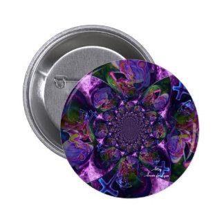 Wild Kaleidoscope Saturn 2 Inch Round Button
