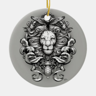 Wild Kingdom Ceramic Ornament
