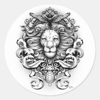 Wild Kingdom Classic Round Sticker