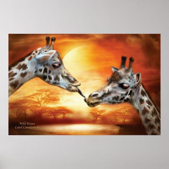 Wild Kisses Art Poster