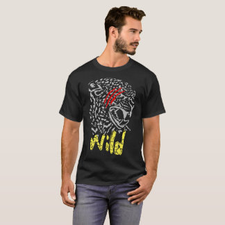 wild leopard design T-shirt