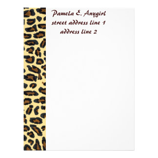 Wild Leopard Fur stationery