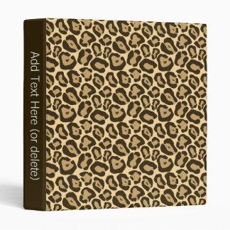 Wild Leopard Pattern Binder
