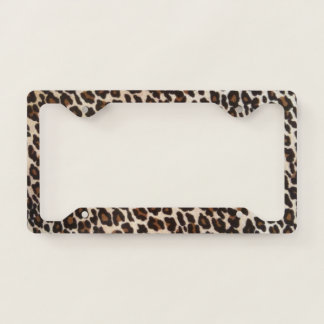 Wild Leopard Print Licence Plate Frame