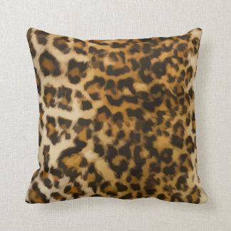 Wild Leopard Throw Pillows