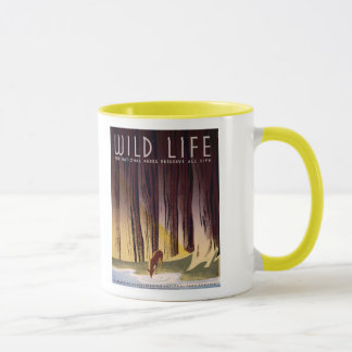 Wild life The National Parks Vintage WPA Mug