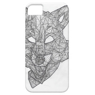 Wild Lines - Wolf iPhone Case