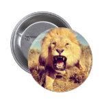 Wild Lion 2 Inch Round Button