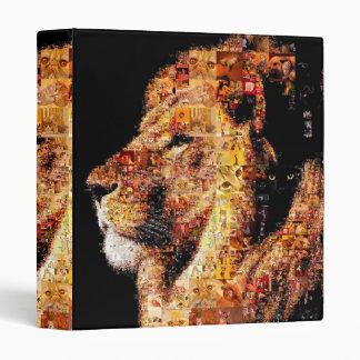 Wild lion - lion collage - lion mosaic - lion wild 3 ring binders