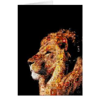 Wild lion - lion collage - lion mosaic - lion wild card