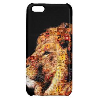 Wild lion - lion collage - lion mosaic - lion wild case for iPhone 5C
