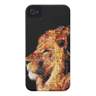 Wild lion - lion collage - lion mosaic - lion wild Case-Mate iPhone 4 cases