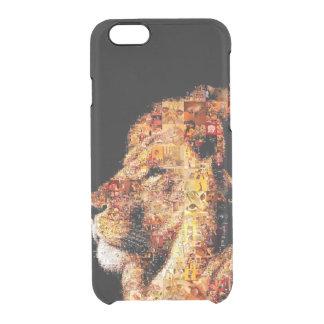 Wild lion - lion collage - lion mosaic - lion wild clear iPhone 6/6S case