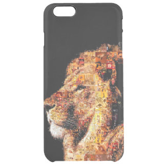 Wild lion - lion collage - lion mosaic - lion wild clear iPhone 6 plus case