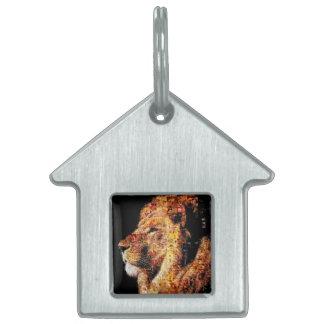 Wild lion - lion collage - lion mosaic - lion wild pet tag