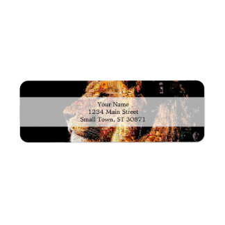 Wild lion - lion collage - lion mosaic - lion wild return address label