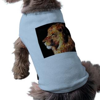 Wild lion - lion collage - lion mosaic - lion wild shirt