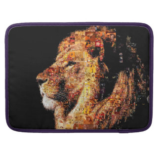 Wild lion - lion collage - lion mosaic - lion wild sleeve for MacBooks