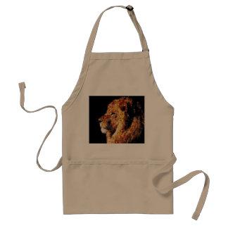 Wild lion - lion collage - lion mosaic - lion wild standard apron