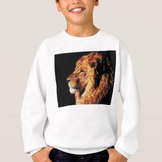 Wild lion - lion collage - lion mosaic - lion wild sweatshirt