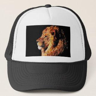 Wild lion - lion collage - lion mosaic - lion wild trucker hat