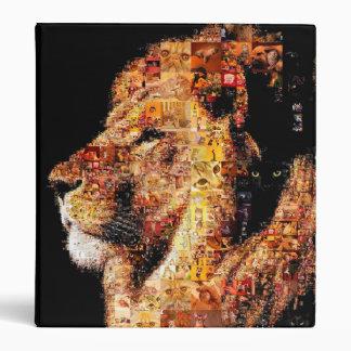 Wild lion - lion collage - lion mosaic - lion wild vinyl binders