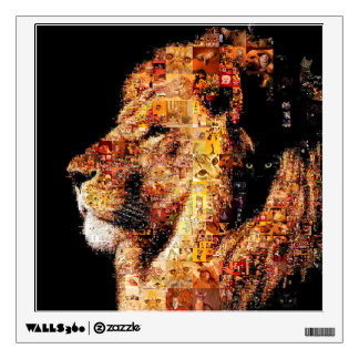Wild lion - lion collage - lion mosaic - lion wild wall decal