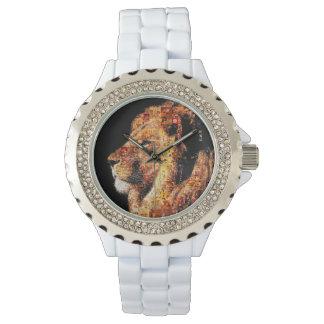 Wild lion - lion collage - lion mosaic - lion wild watch