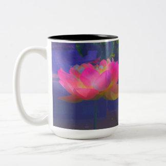 Wild Lotus Two-Tone Coffee Mug