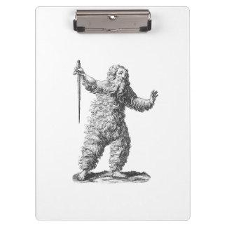 Wild Man - Wildemann - Figure from Medieval Legend Clipboard
