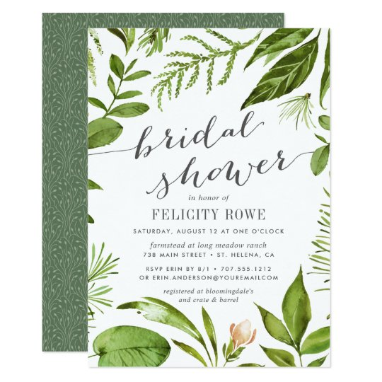 Wild Meadow | Botanical Bridal Shower Invitation