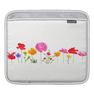 wild meadow flowers iPad sleeve