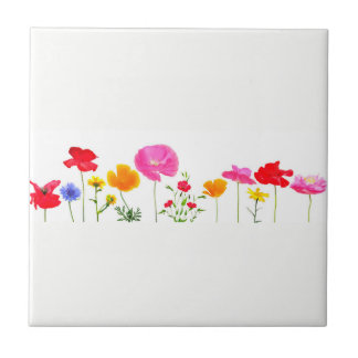 wild meadow flowers tile