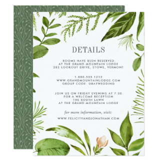 Wild Meadow Guest Information Card