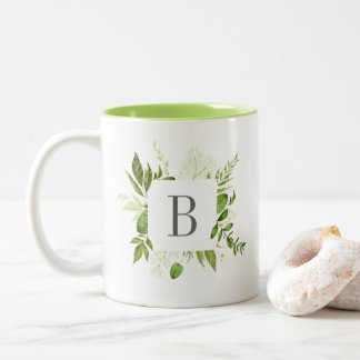 Wild Meadow Monogram Two-Tone Coffee Mug