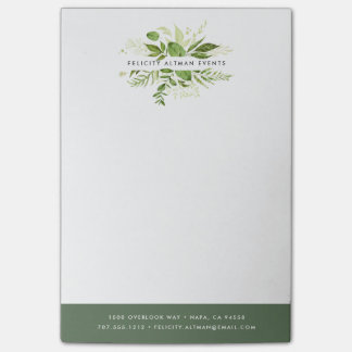 Wild Meadow Personalized Business Post-it Notes