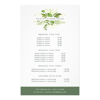 Wild Meadow Pricing & Services Full Colour Flyer