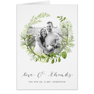 Wild Meadow | Wedding Photo Thank You Card