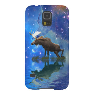 Wild Moose and Full Moon Wildlife Galaxy S5 Cases