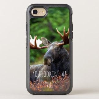 Wild Moose on Hill with Attitude in Forest Photo OtterBox Symmetry iPhone 8/7 Case