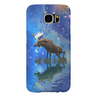 Wild Moose & Starry Skies Wildlife Cell Phone Case
