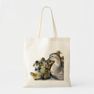 Wild Mother Duck and Ducklings Tote Bag