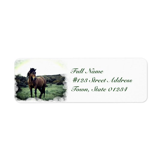 Wild Mustang Mailing Labels