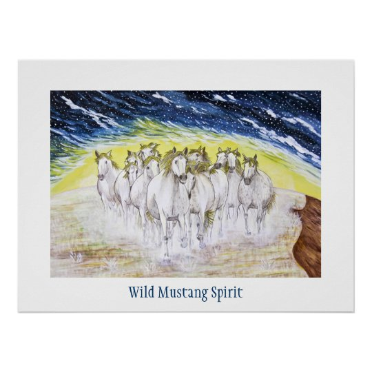 Wild Mustang Spirit Poster
