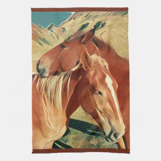 Wild Mustangs Kitchen Towels