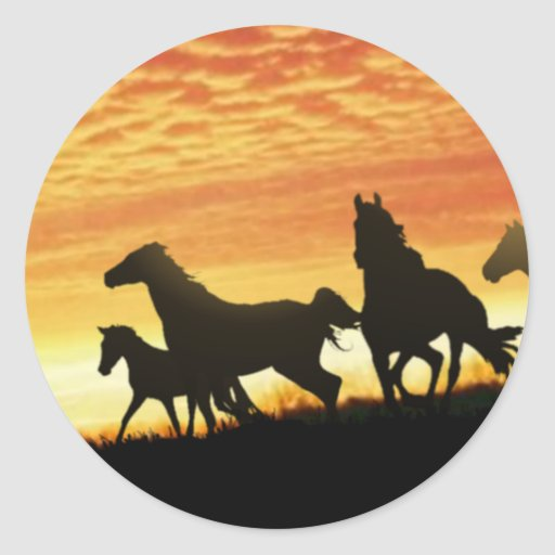 Wild Mustangs Sticker