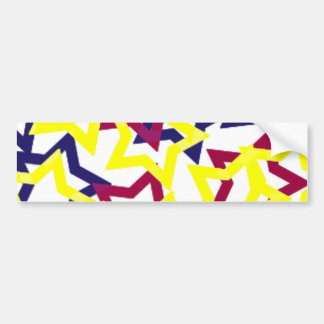 Wild Neon Stars Bumper Sticker